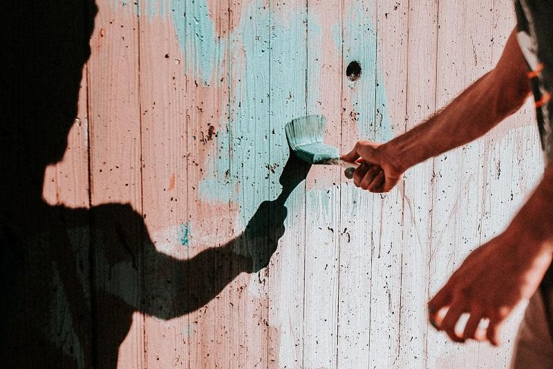 målar staket