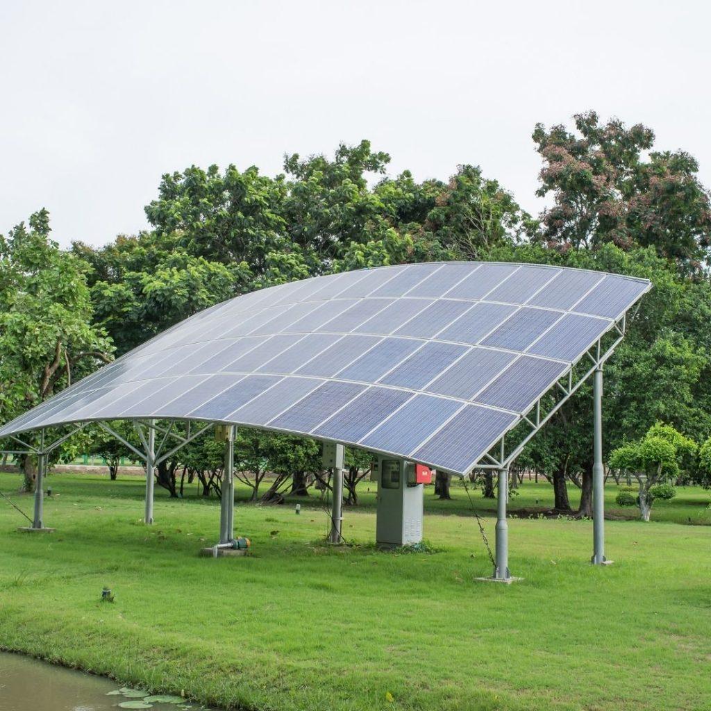 solceller på mark